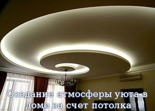 Создание атмосферы уюта в доме за счет потолка